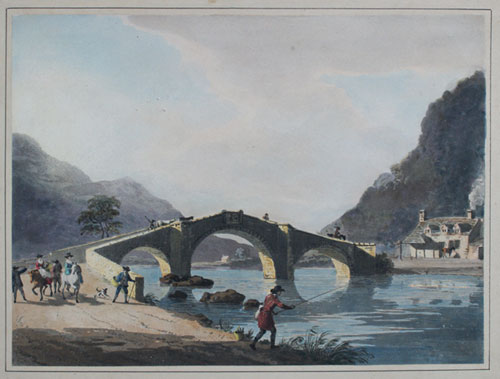 Paul Sandby: Bridge at Llanrwst